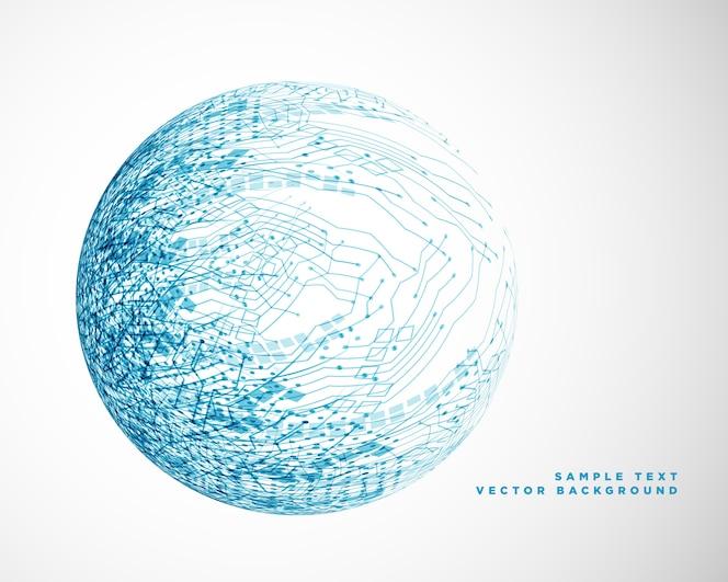 Diseño de malla de alambre de tecnología azul