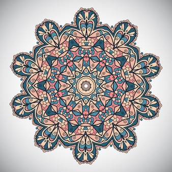 Diseño de mandala decorativo
