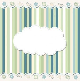 Diseño de marco de plantilla para tarjeta de felicitación