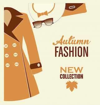 Diseño de moda de otoño
