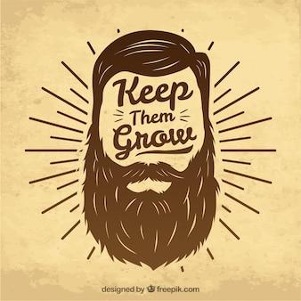 Diseño de movember con barba hipster