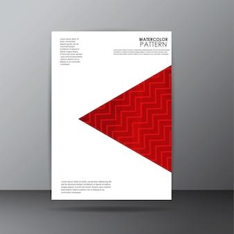 Diseño de página de cubierta de patrón de acuarela