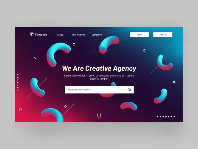 Diseño de página web o banner de sitio web receptivo