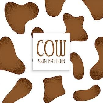 Diseño de patrón de piel de vaca marrón