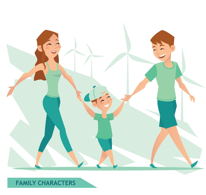 Diseño de personajes familiares
