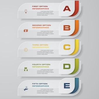 Diseño de plantilla de banners de números limpios