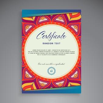 Diseño de plantilla de certificado profesional