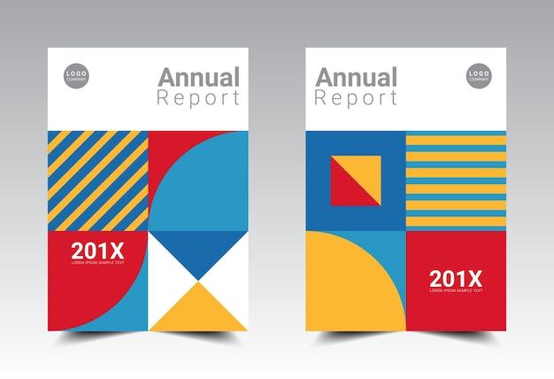 Diseño de plantilla de diseño de informe anual tamaño a4.