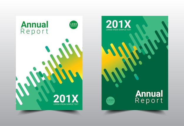 Diseño de plantilla de diseño de informe anual.