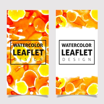Diseño de plantilla de folleto colorido acuarela