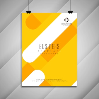 Diseño de plantilla de folleto comercial colorido brillante abstracto