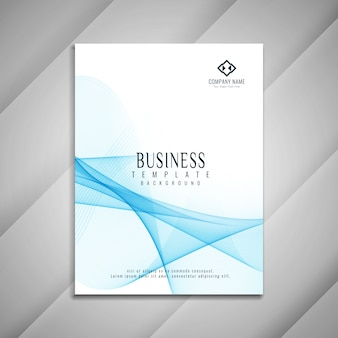 Diseño de plantilla de folleto comercial ondulado abstracto