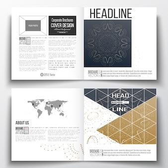 Diseño de plantilla de folleto cuadrado.