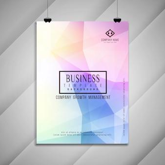 Diseño de plantilla de folleto de negocios con estilo colorido abstracto