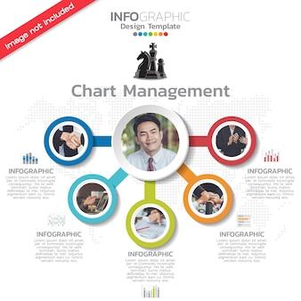 Diseño de plantilla de infografía con opciones.