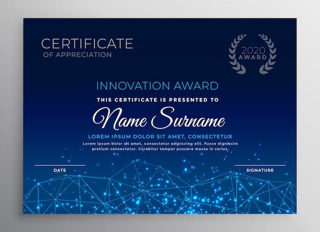 Diseño de plantilla de tecnología de innovación azul