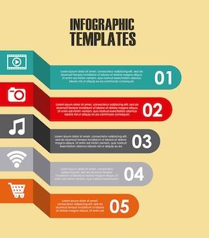 Diseño de plantillas de infografía