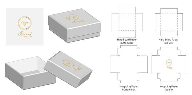 Caja rectangular fotos y vectores gratis - Caja rompecabezas ...