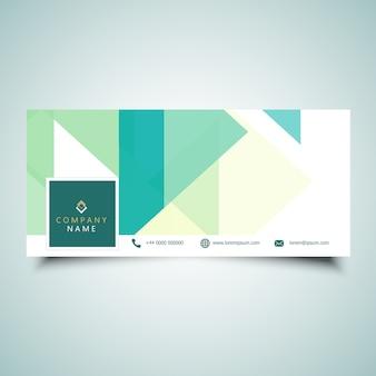 Diseño de portada de línea de tiempo de medios sociales con diseño de baja poli