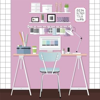 Diseño de sala de trabajo