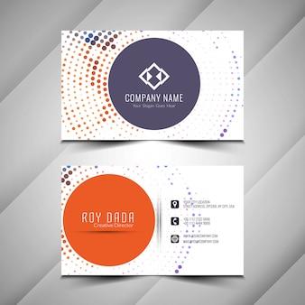 Diseño de semitonos de tarjeta de visita elegante abstracto