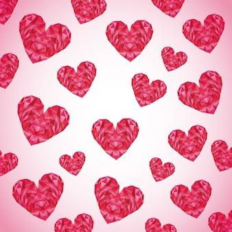 Diseño de tarjeta de amor