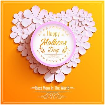 Diseño de tarjeta de felicitación de feliz día de madres