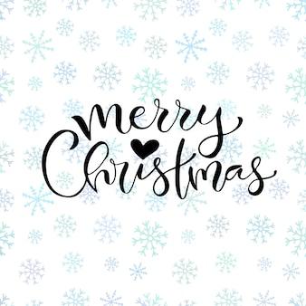 Diseño de tarjeta de felicitación de navidad feliz manuscrita