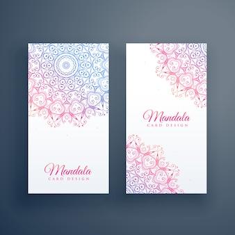 Diseño de tarjeta de mandala colorido hermoso