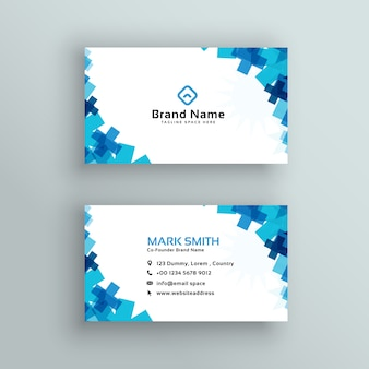Diseño de tarjeta de visita de estilo médico o sanitario