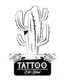 Diseño de tatuajes con dibujos de la vieja escuela