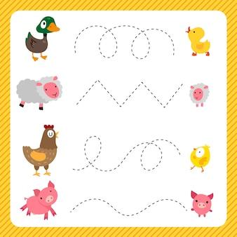 Diseño de vector de hoja de cálculo para niño