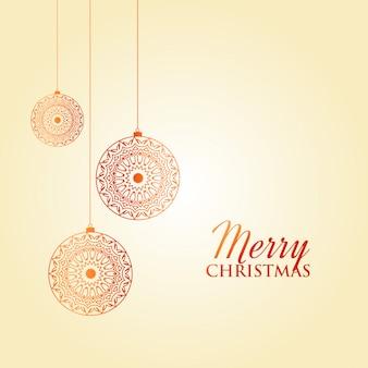 Diseño de decoración de tarjeta de felicitación de feliz navidad