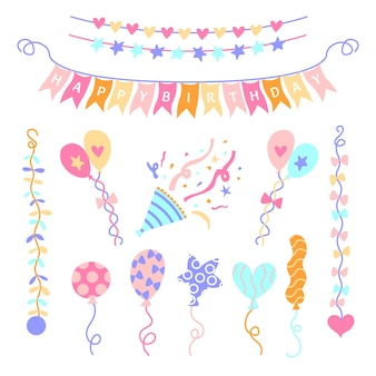 Diseño de decoraciones de cumpleaños de aniversario