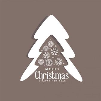 Diseño decorativo de árbol de navidad con copos de nieve.