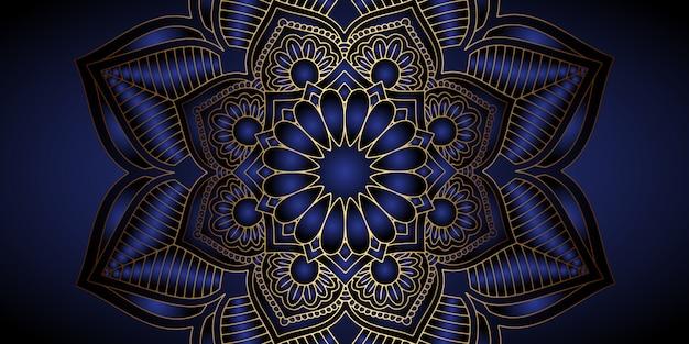 Diseño decorativo de fondo mandala