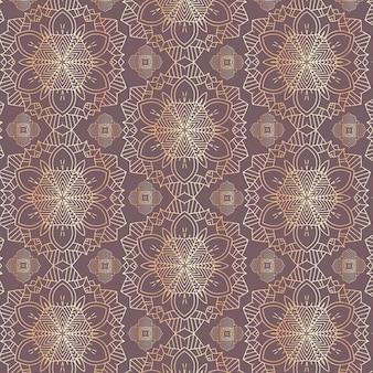 Diseño decorativo mandala de patrones sin fisuras.