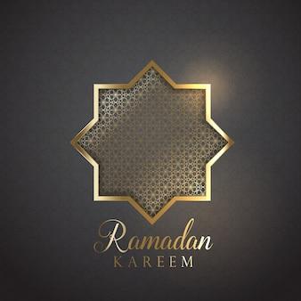 Diseño decorativo para ramadán kareem