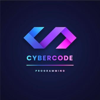 Diseño de degradado de plantilla de logotipo de código