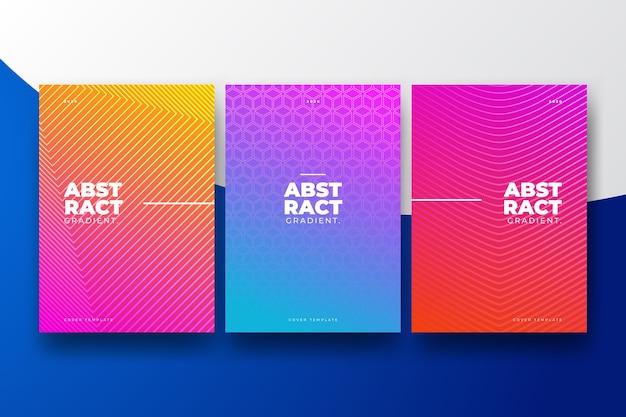 Diseño de degradado de semitono de la colección de portadas