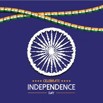 Diseño del día de la independencia de la india