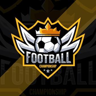 Diseño deportivo del logotipo del campeonato de fútbol de fútbol