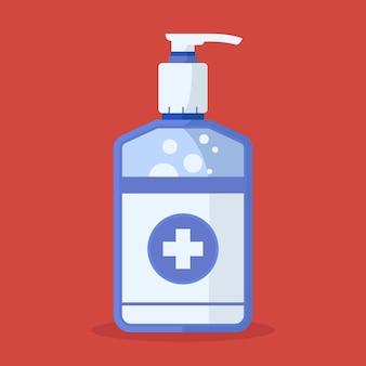 Diseño de desinfectante de manos de diseño plano