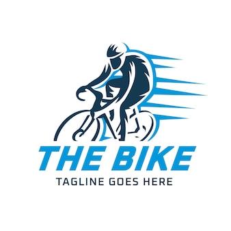 Diseño detallado de plantilla de logotipo de bicicleta