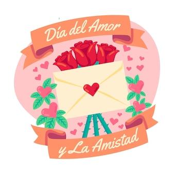 Diseño del día del amor y la amistad.