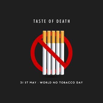 Diseño del día contra el tabaco