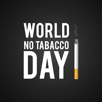 Diseño de del día contra el tabaco