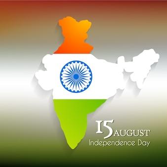 Diseño para el día de la independencia de la india con mapa