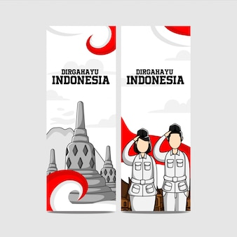 Diseño del día de la independencia de indonesia