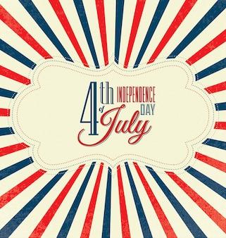 Diseño del día de la independencia con rayas